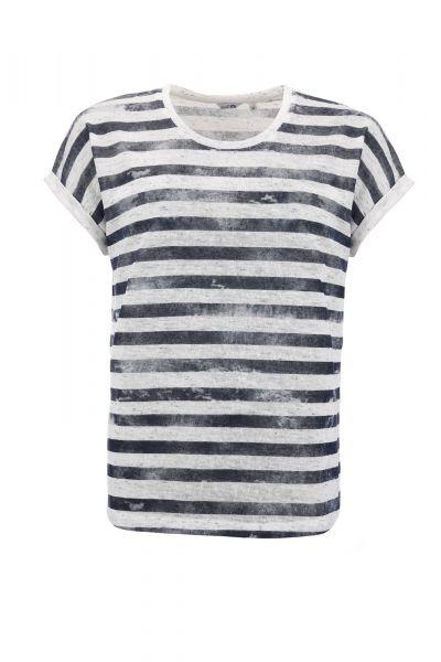 Damen-T-Shirt Leinentouch