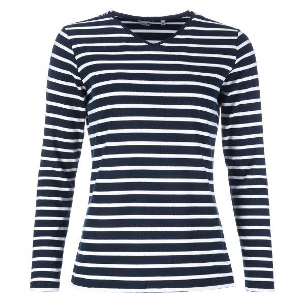 Bretonisches Damen-Shirt mit V-Ausschnitt