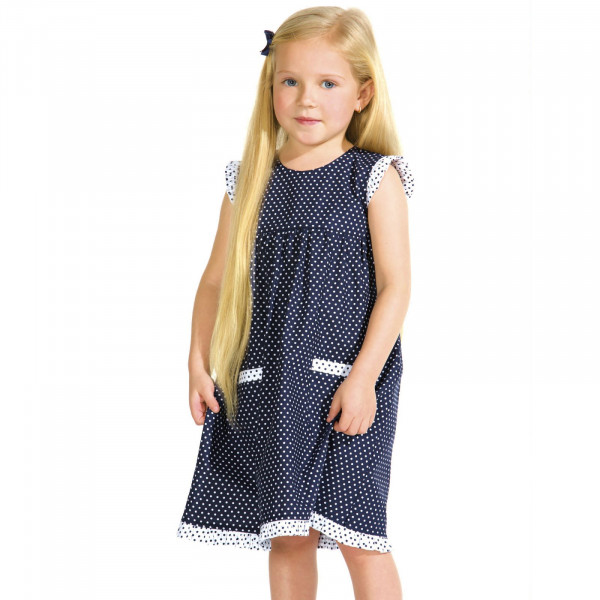 Kinderkleid, gepunktet
