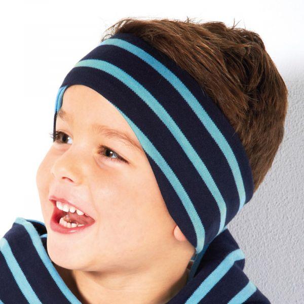 Maritimes Stirnband mit Ohrschutz
