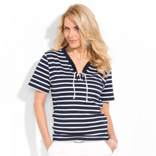 Maritimes Damen-Shirt mit Kordel